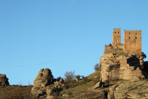 Castillo de Zafra y grullas