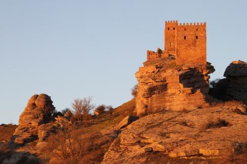 Atardecer en el castillo de Zafra